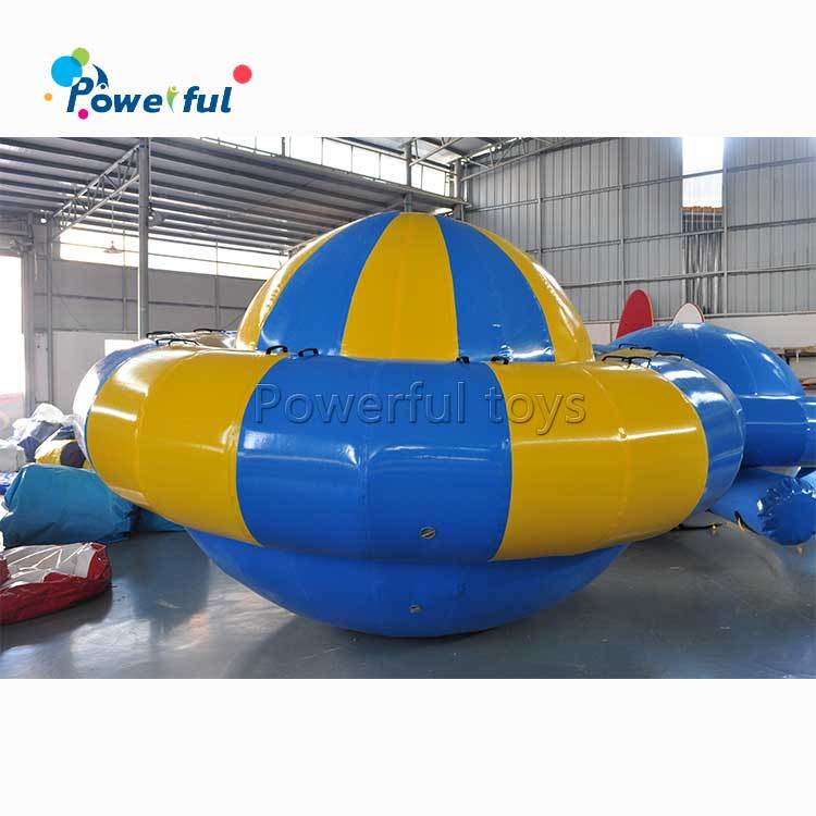 inflatable floating water game saturn rocker