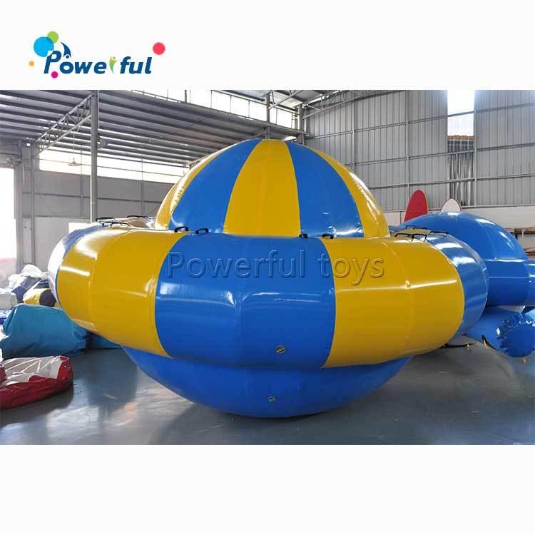 inflatable floating water game saturn rocker