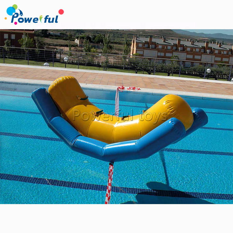PVC Tarpaulin Inflatable Floating Seesaw Teeterboard Water Game Kids Fun Playing