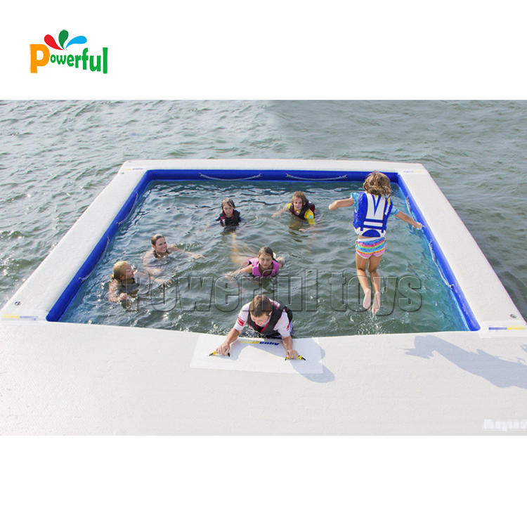 sea inflatable floating swimming poolInflatable Ocean Pool For Yacht