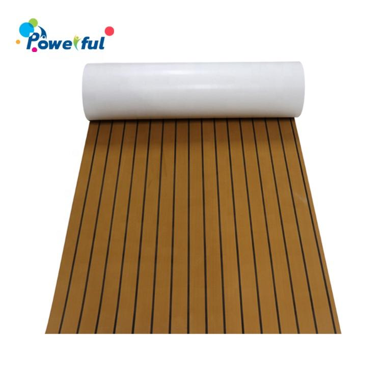 Factory priceEVA foam faux teak boat decking sheet non-skid yacht self-adhesive pad mat for sale