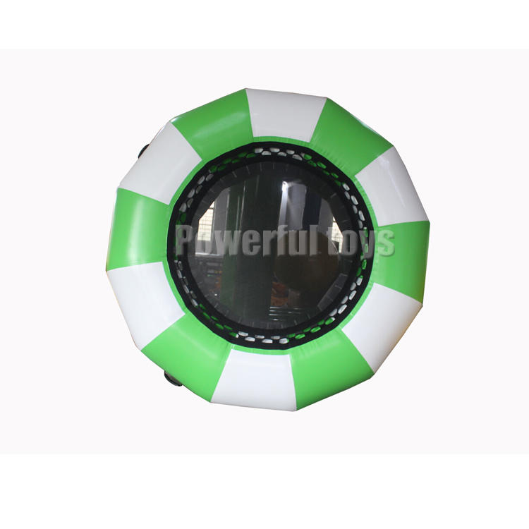 Exciting water park inflatable water trampoline platform for jumping