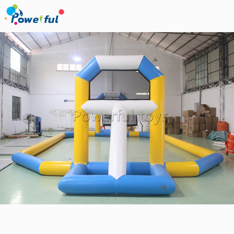 Inflatable water basketball filed court waterpark floating tv sport games