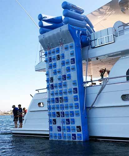 New water toys inflatable climbing ladder ,Inflatable water climbing wall for yacht