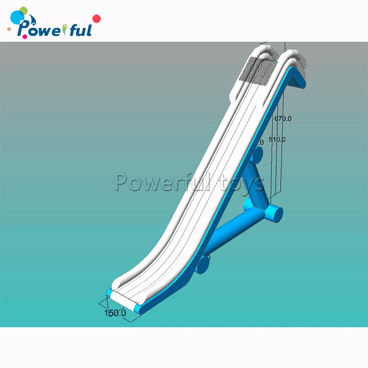 Inflatable pontoonboat slideinflatablefloating yachtwater slide