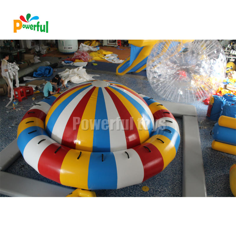 4m inflatable floating saturn towabale inflatable disco boat water toy