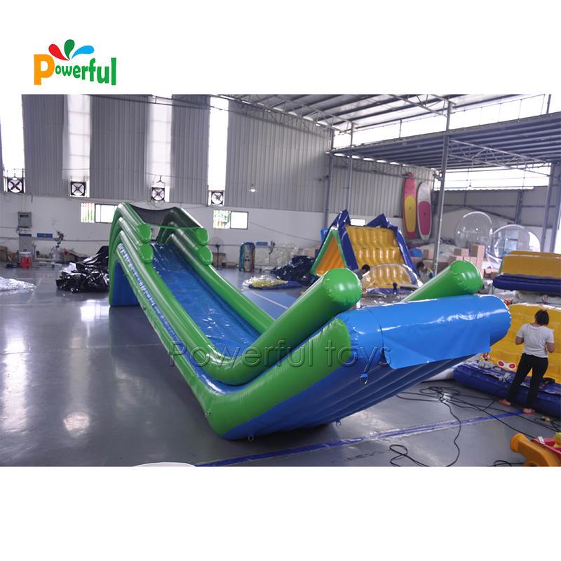 inflatable pontoon yacht slide, Water Slide Boat ,inflatable floating yacht water slide for sea
