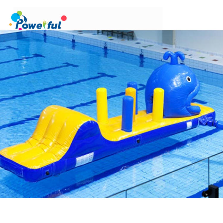 Fish Theme Inflatable Water Obstacle For Kids Swimming Pool