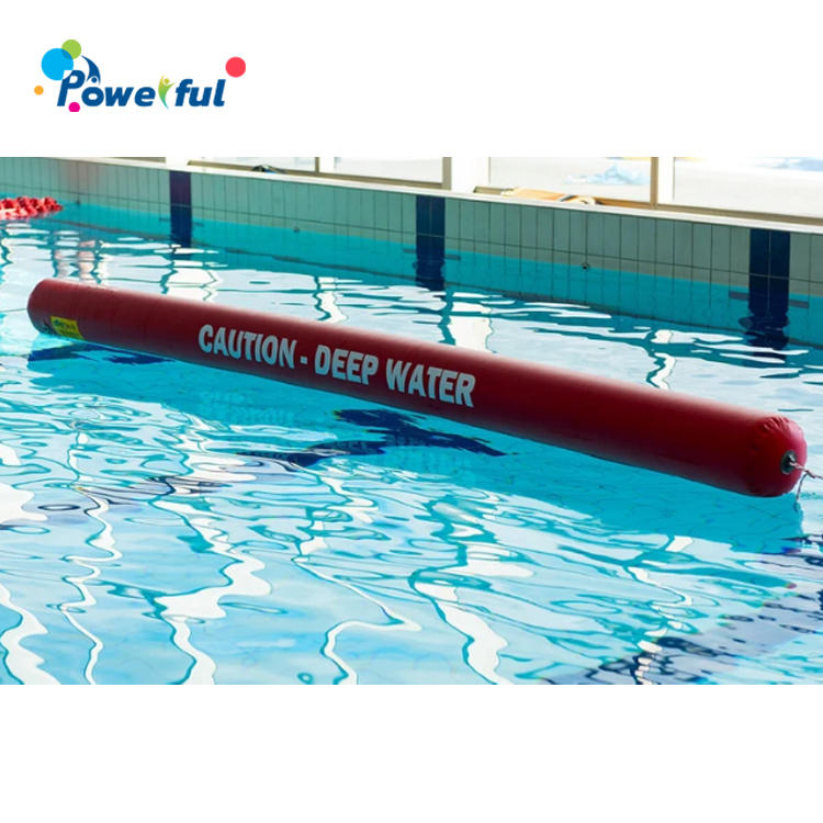 Open water swim buoy inflatable water barrier tube for deep water pool