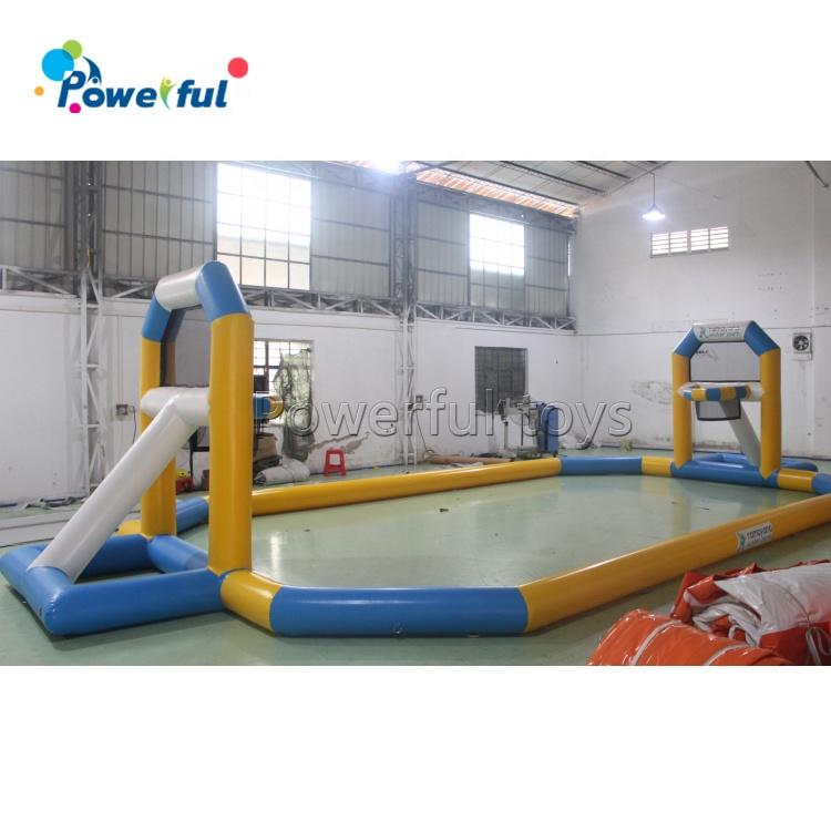 Durable PVC inflatable basketball game pitch 12x6m inflatable water basketball court