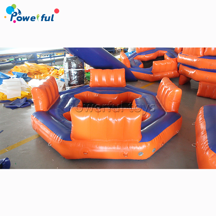 Inflatable 4 persons floating dock inflatable island