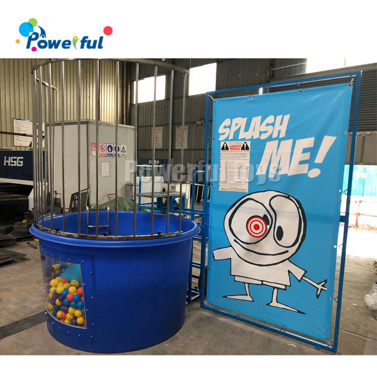 Factory Outlet inflatable water game with ocean ball water dunk tank game for sale