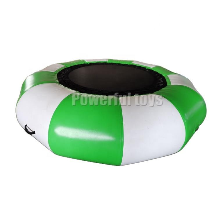 2.5m dia Inflatable Water Trampoline Bounce Swim Platform For Water Sports