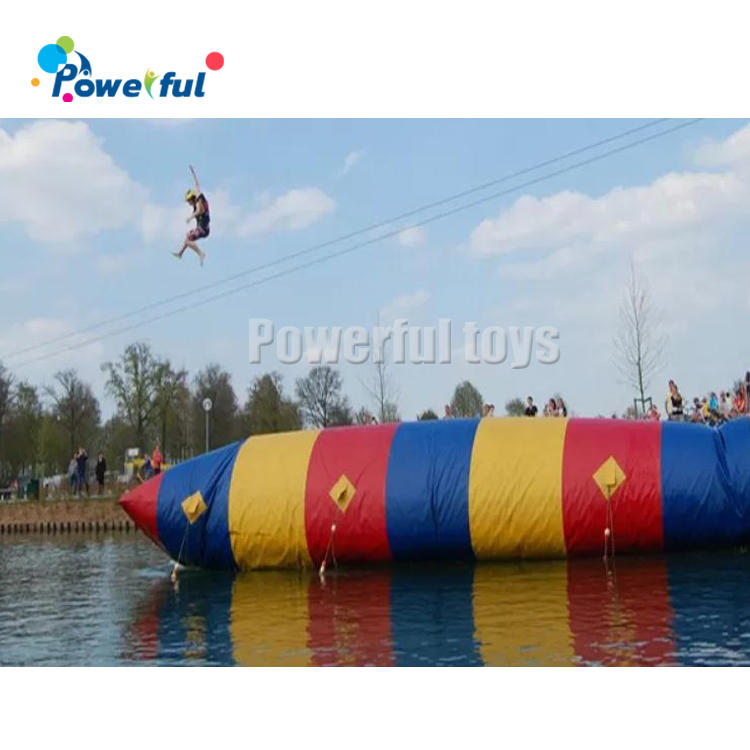Hot selling water games inflatable water jumping pillow blob