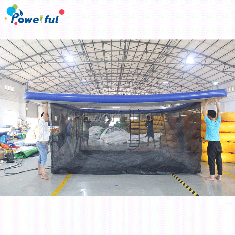 5x5 size inflatable sea pool for ocean