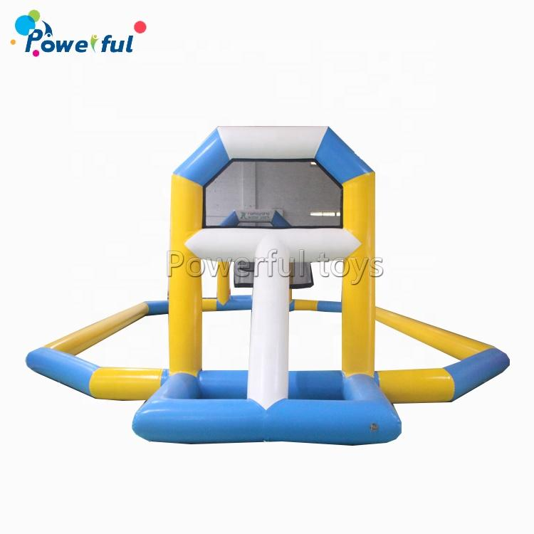 Water sport game inflatable basketball hoop inflatable pool floating basketball court