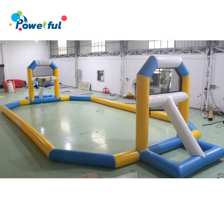 Hot sale inflatable basketball court for water park