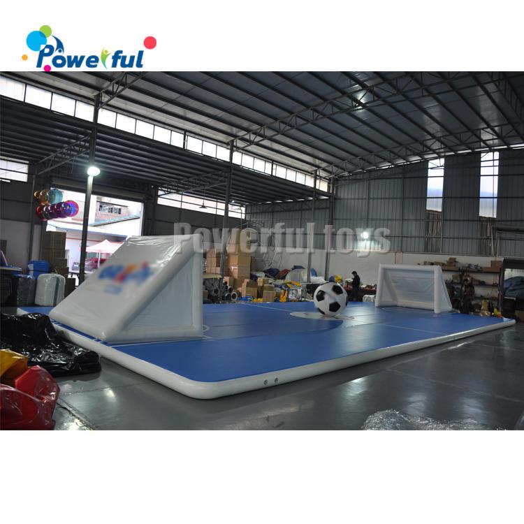 Amusement park inflatable football target shooting goal