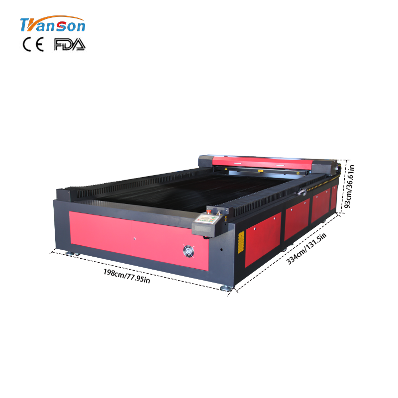 Widely usedTS1325 engraving and cutting laser machine laser mused for non-metal wood paper acrylic leather plastic stone glass