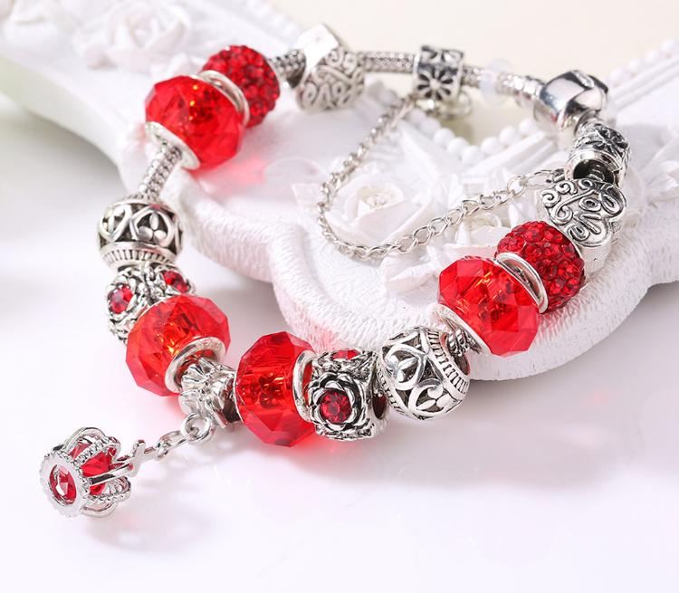 Wholesale fashion silver germanium and tourmaline bracelet