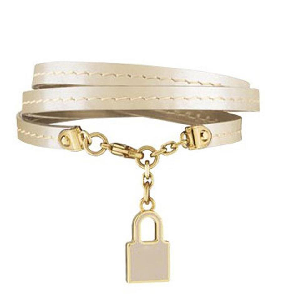 Yellow color wholesale for women leather bracelet silver