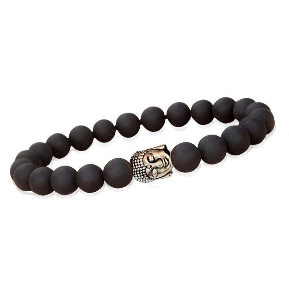 Cheap fashion black beads budda bracelet