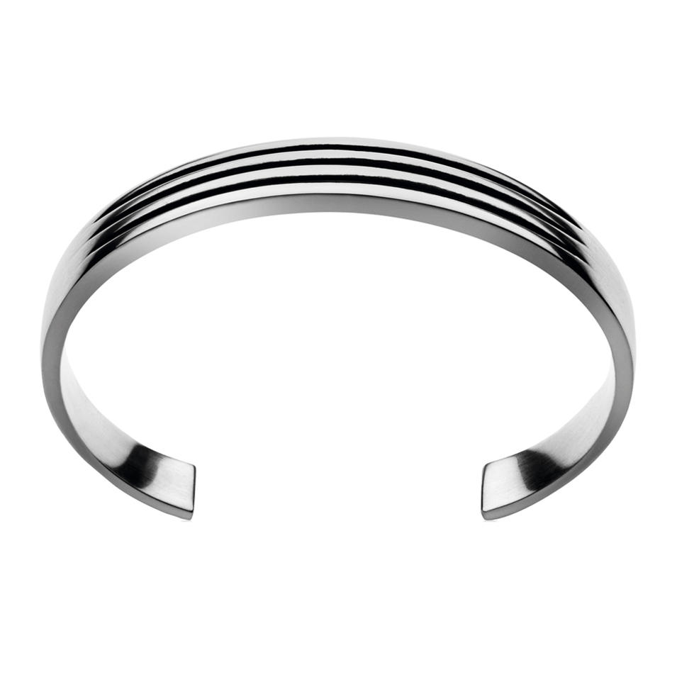 Black Painting Adjustable Size 925 Silver Bracelet For Men