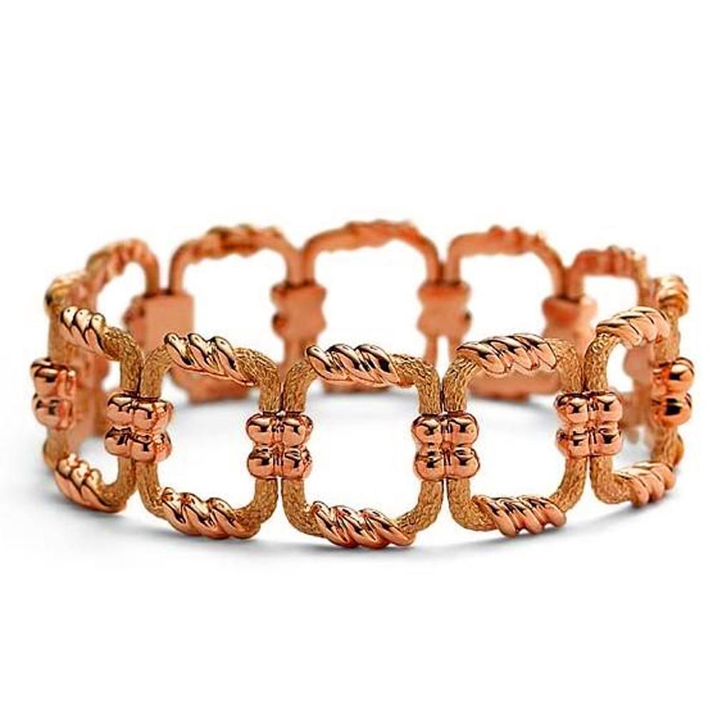 Custom hollow square dubai gold bracelet latest models