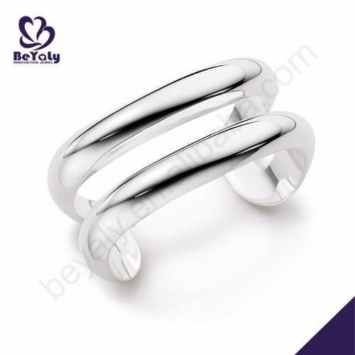 Shiny blank men wholesale silver jewellery 925 bangle