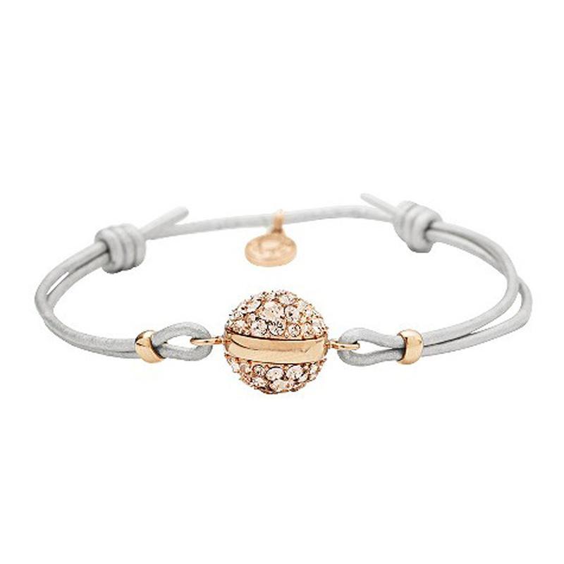Fashion silver cz rose gold ball cheap string bracelet