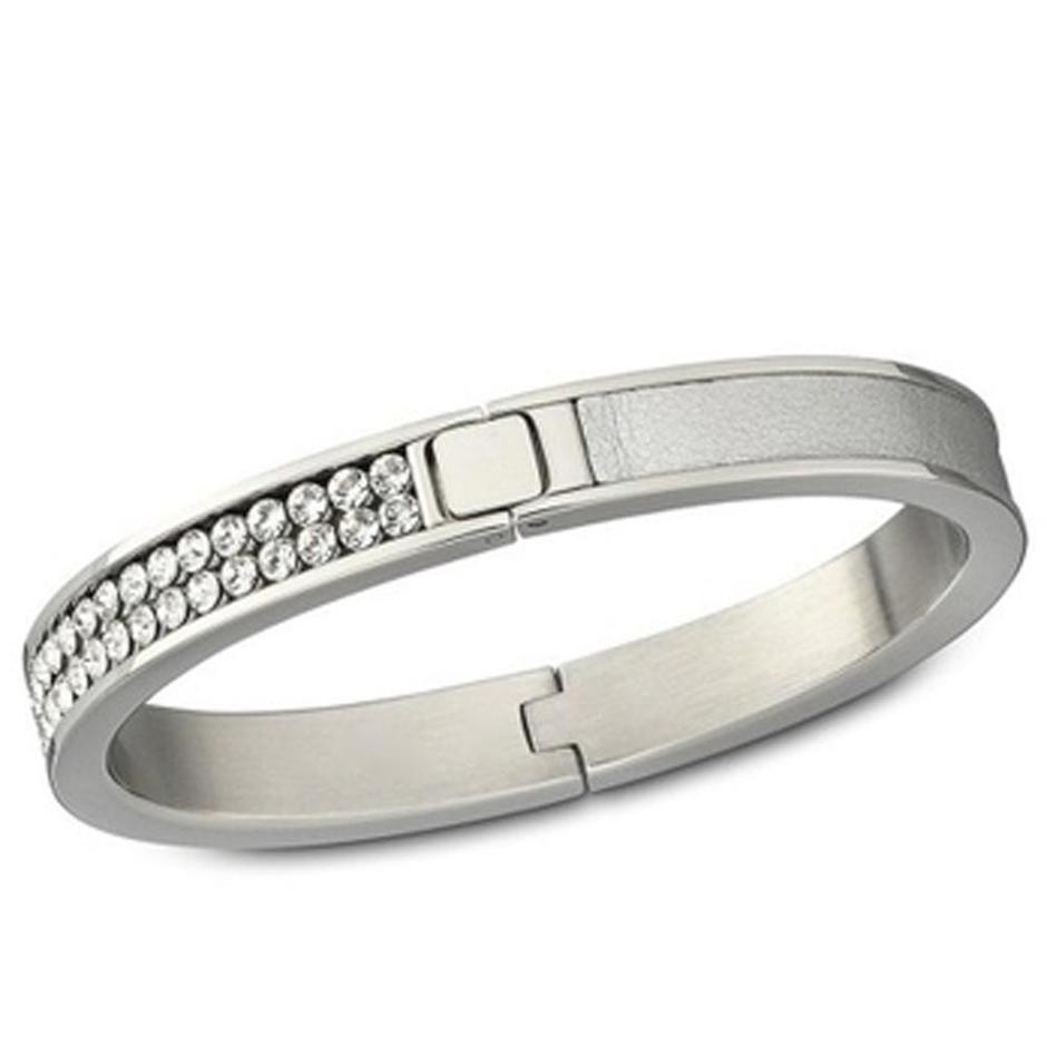 Luxurious rhinestone slide bracelet letters for female
