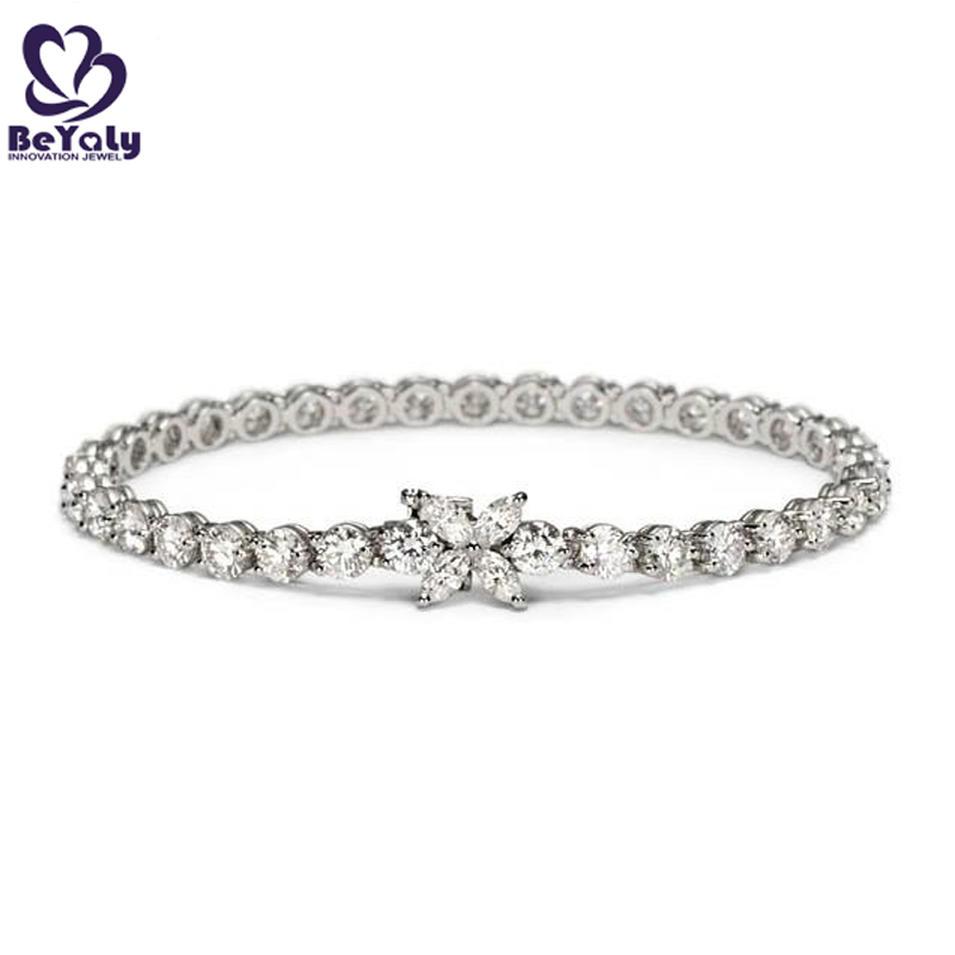 Trendy silver butterfly rhodium diamond bracelets