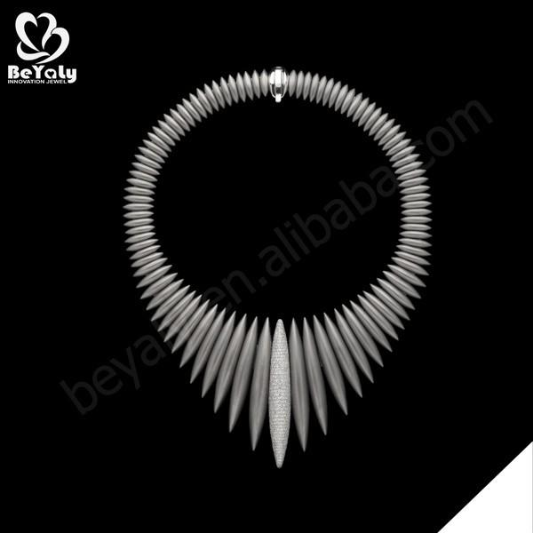 Futuristic design silver bijoux stylish trendy women jewelry