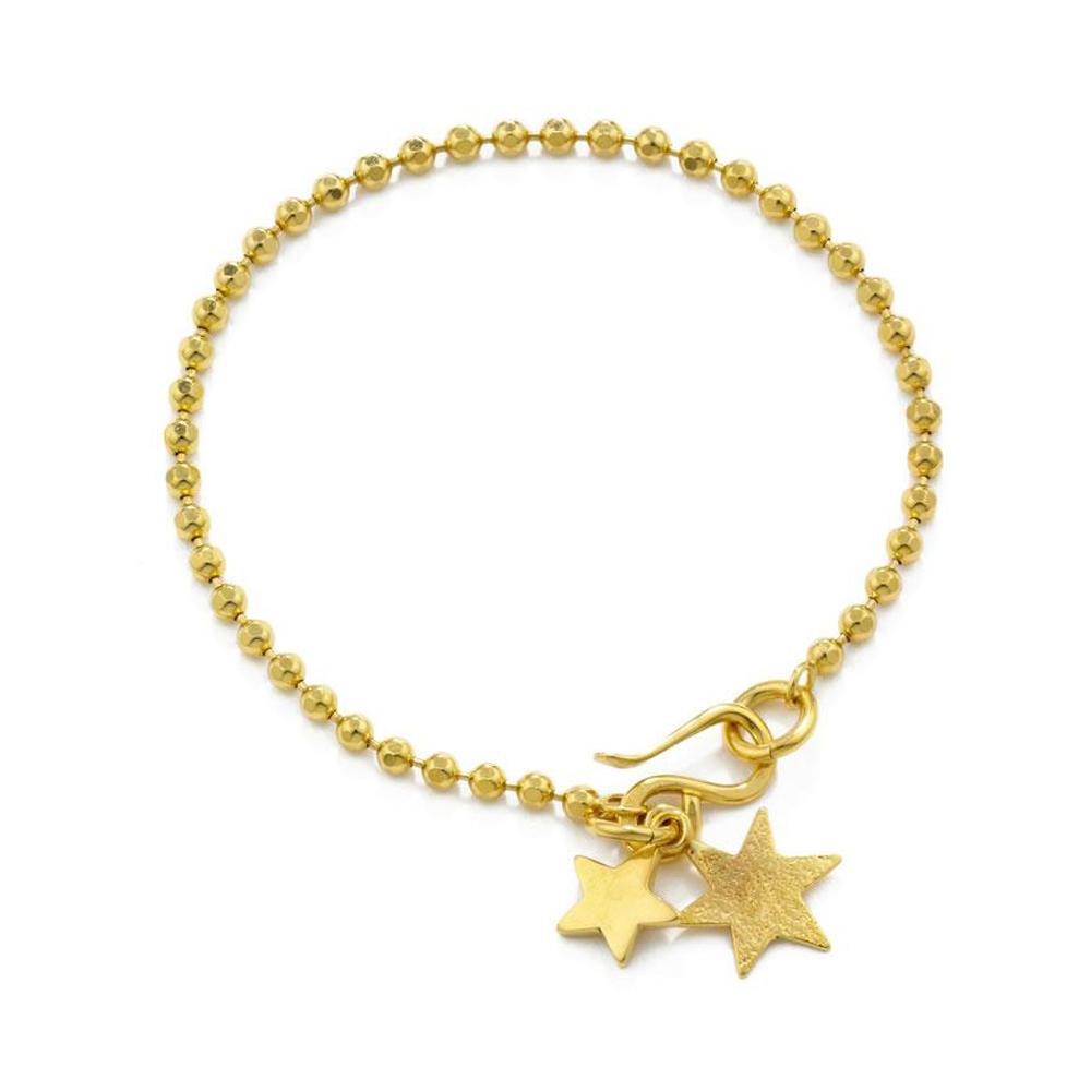 Fashion Star Drop Silver Prom Jewelry 22K Gold Bangles