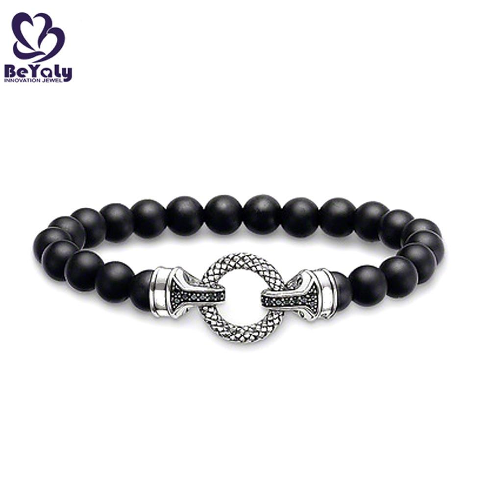 Rosary black cz circle design magnetic clasps for bracelets