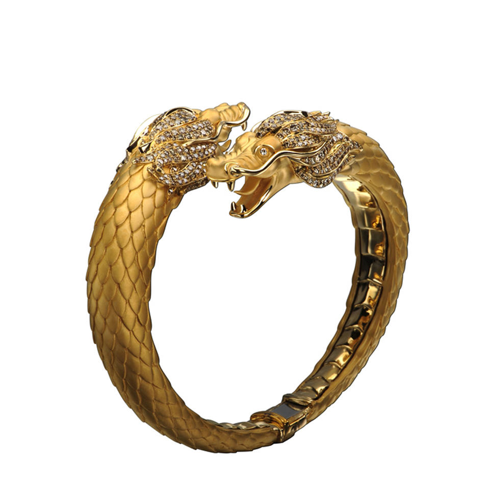Dragon Head Custom Design Cz Monster Bracelet