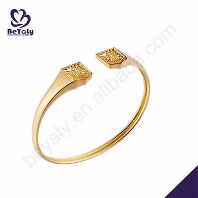 Delicate engraved silver plated 24k gold bangles dubai jewelry