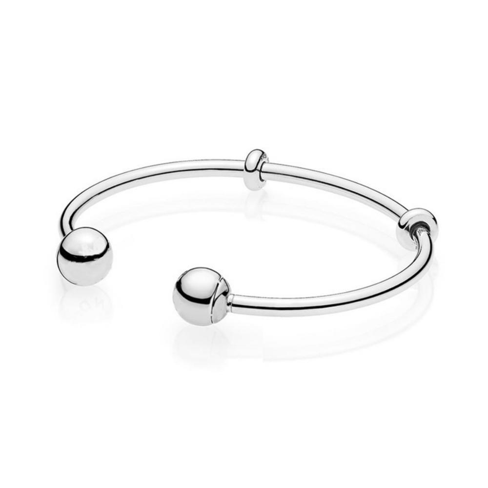 Fashion Silver Chain Artificial Diamond Ball Bracelet