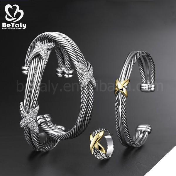 2018 new hot cz set wholesale silver bracelet mounting