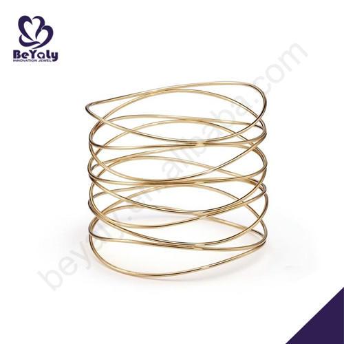 Latest fashion silver wire expandable bangle