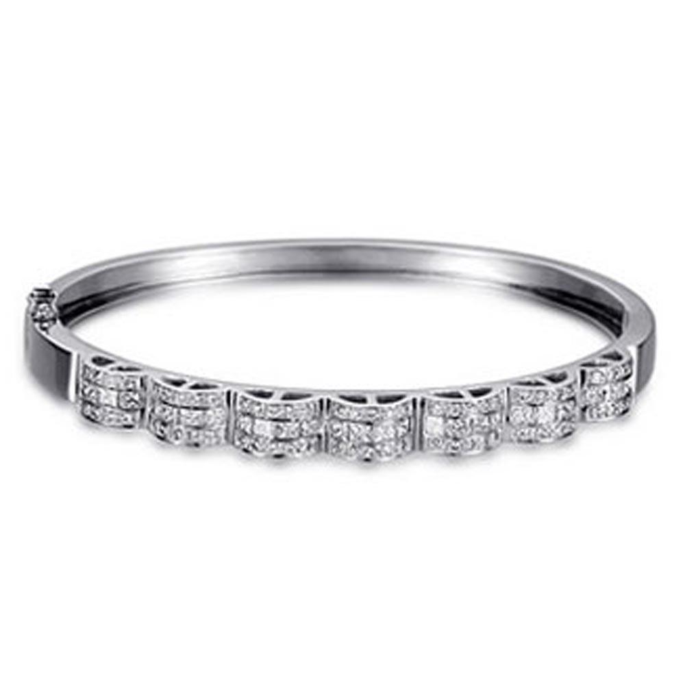 Fashion Silver Butterfly Design White Zircon Bracelet