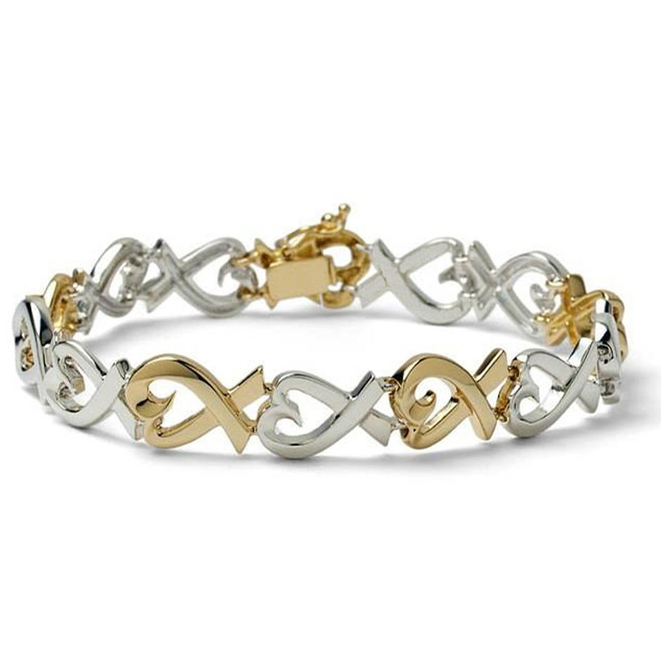 Simple Silver Love Knot Custom Friendship Bracelets