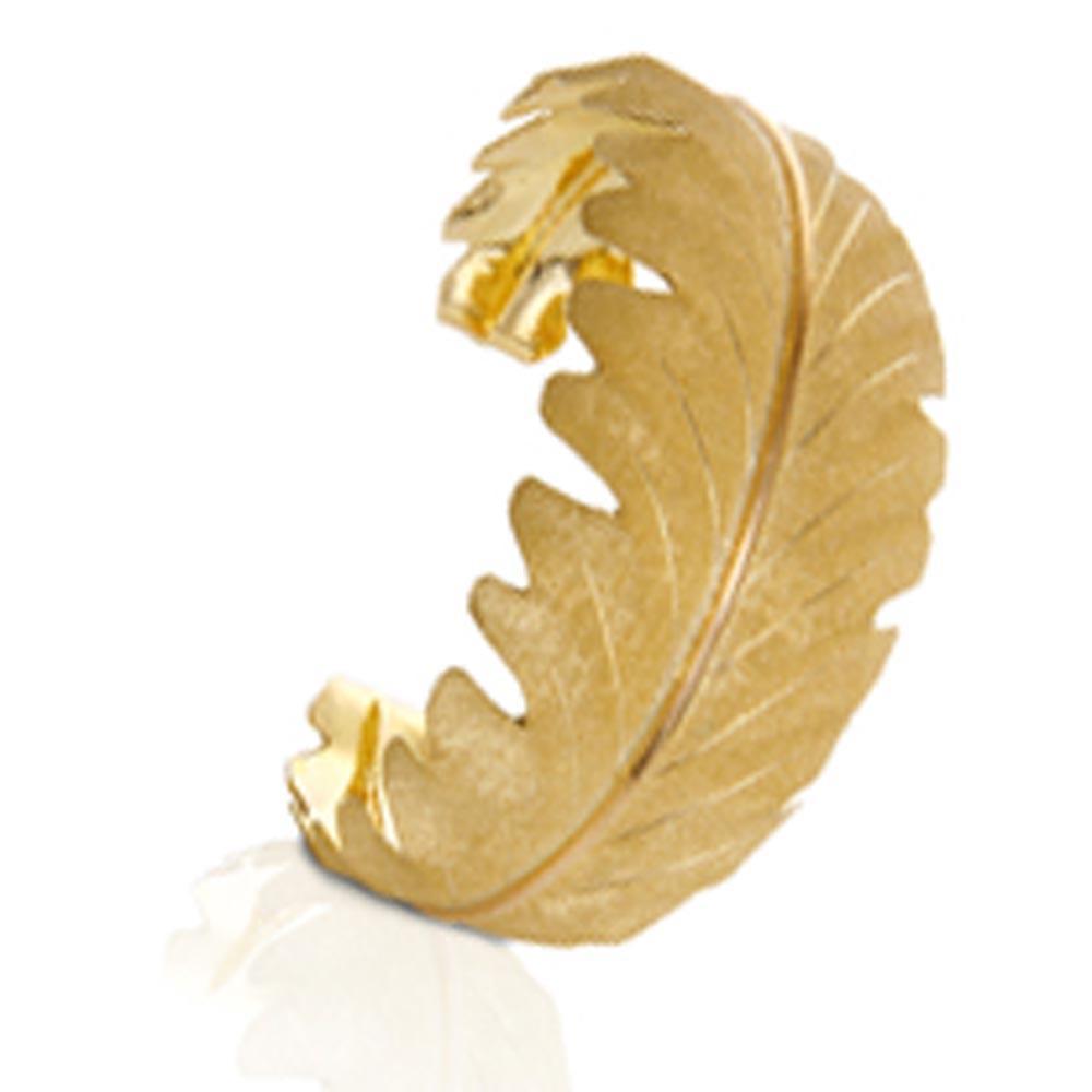 925 Silver Golden Leaf Custom Engraved Metal Bracelet