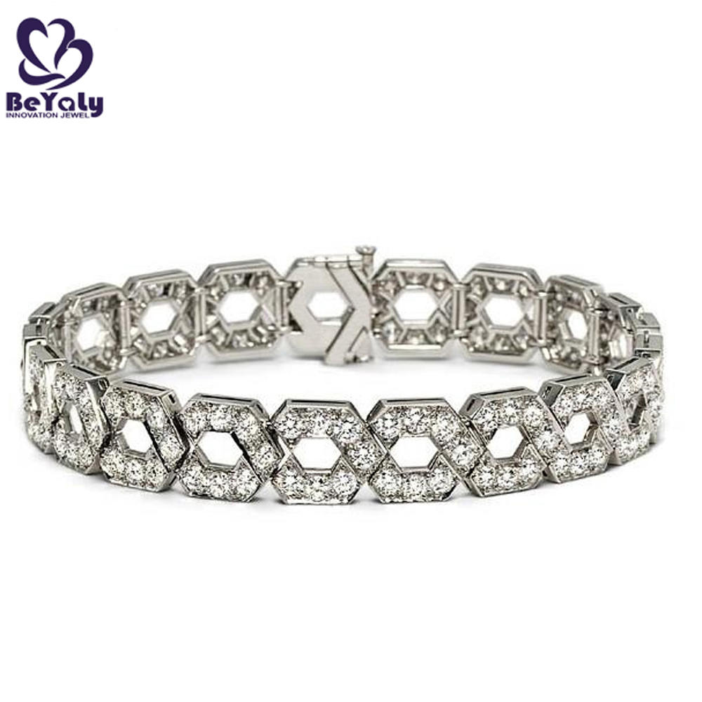 Exquisite customized silver cubic zirconia tennis bracelets