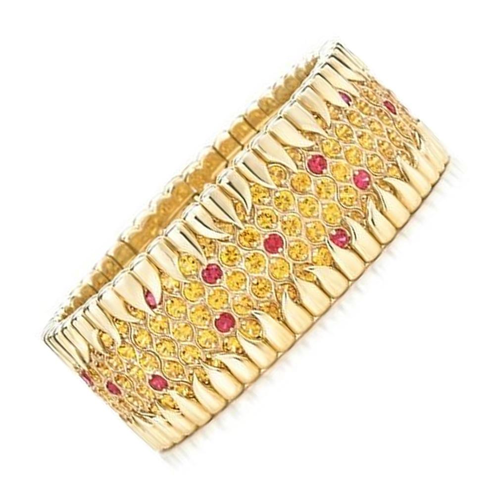 Fashion cz gold bracelet designs ladies dubai
