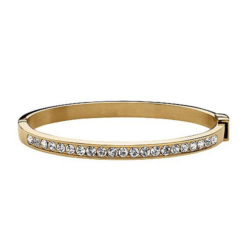 Retro design beauty wholesale diamond studded gold bangle