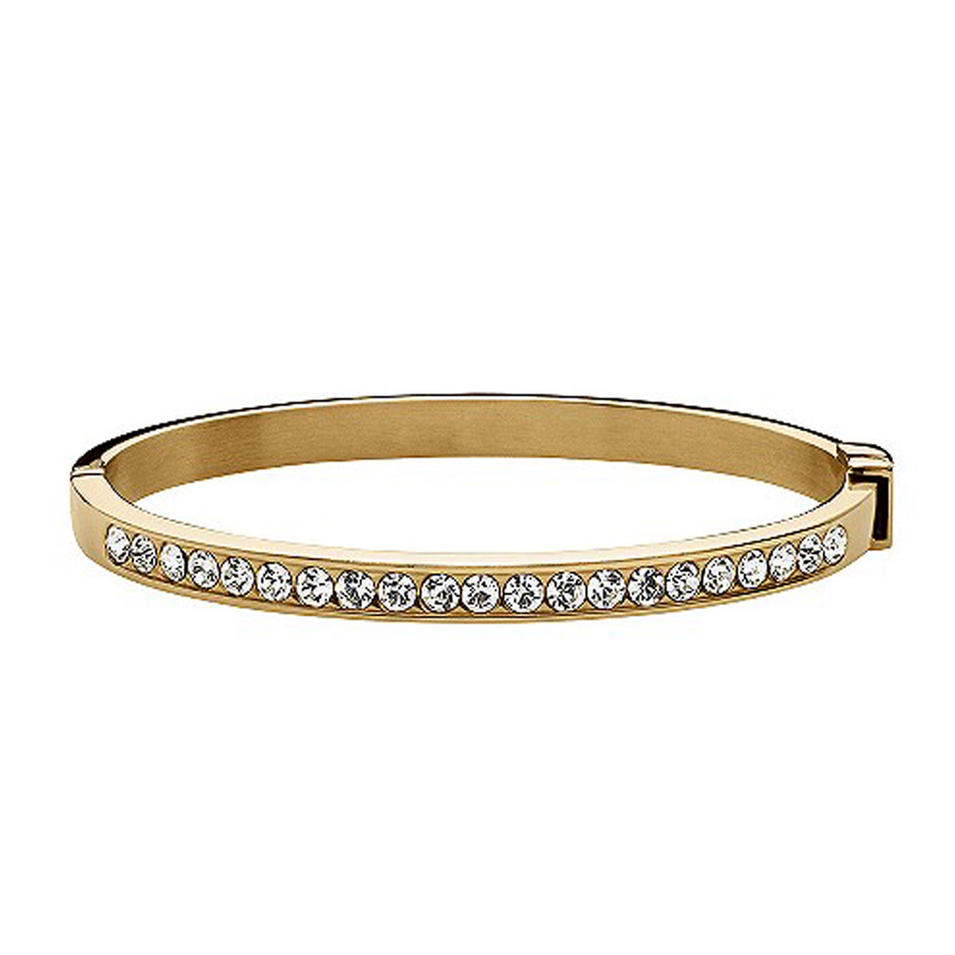 Retro design beauty wholesale diamond studded gold bangle