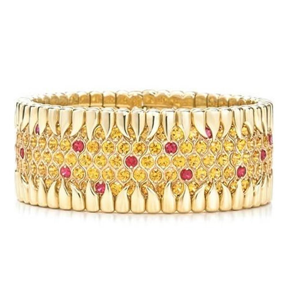 Gold color shiny ankle bracelets wholesale with cz