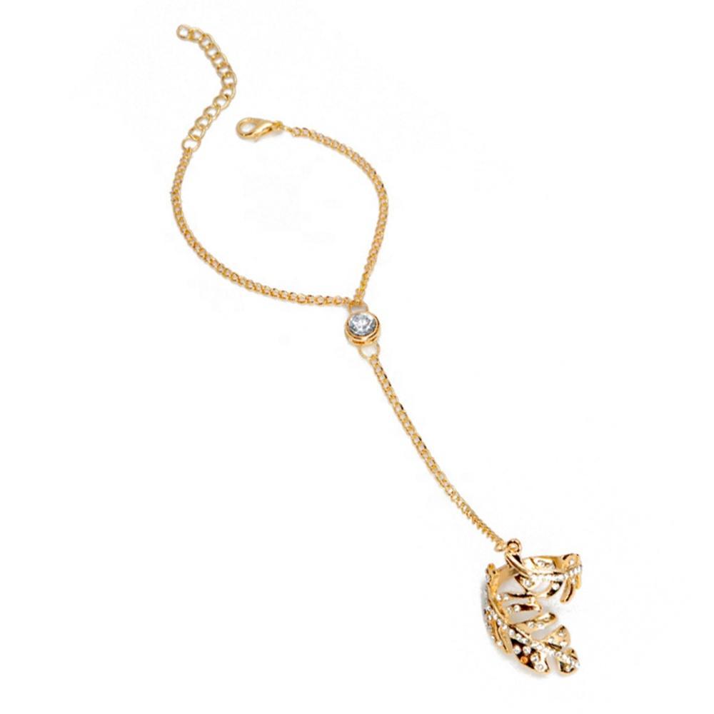 Custom design silver cz arabic ring bracelet