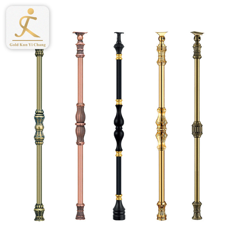 luxury stair handrail decorative metal pillar columns antique indoor balcony stair railings
